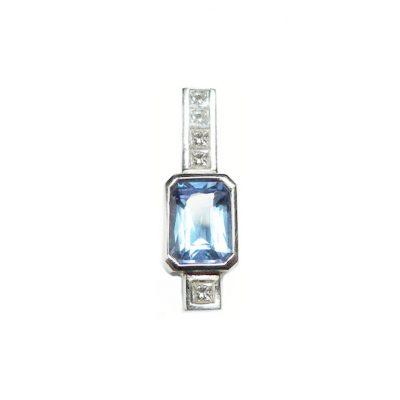 blue tanzanite diamond pendant modern geometric nicholas wylde