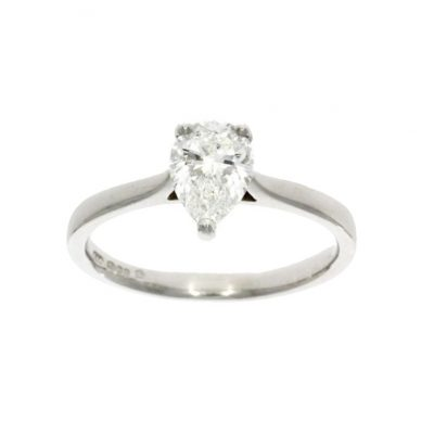 pear shaped diamond engagement ring pointy pointed cut classic