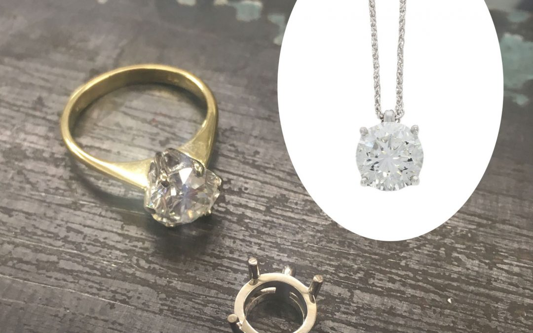 18ct White Gold Classic Diamond Pendant