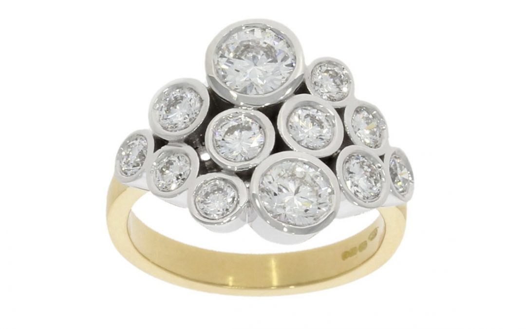 18ct Yellow & White Gold Diamond Ring