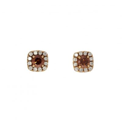 chocolate diamond cluster studs by wylde jewellery