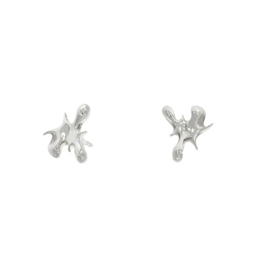 Lucy Quartermaine q splash splat paint studs earrings nicholas wylde stockist