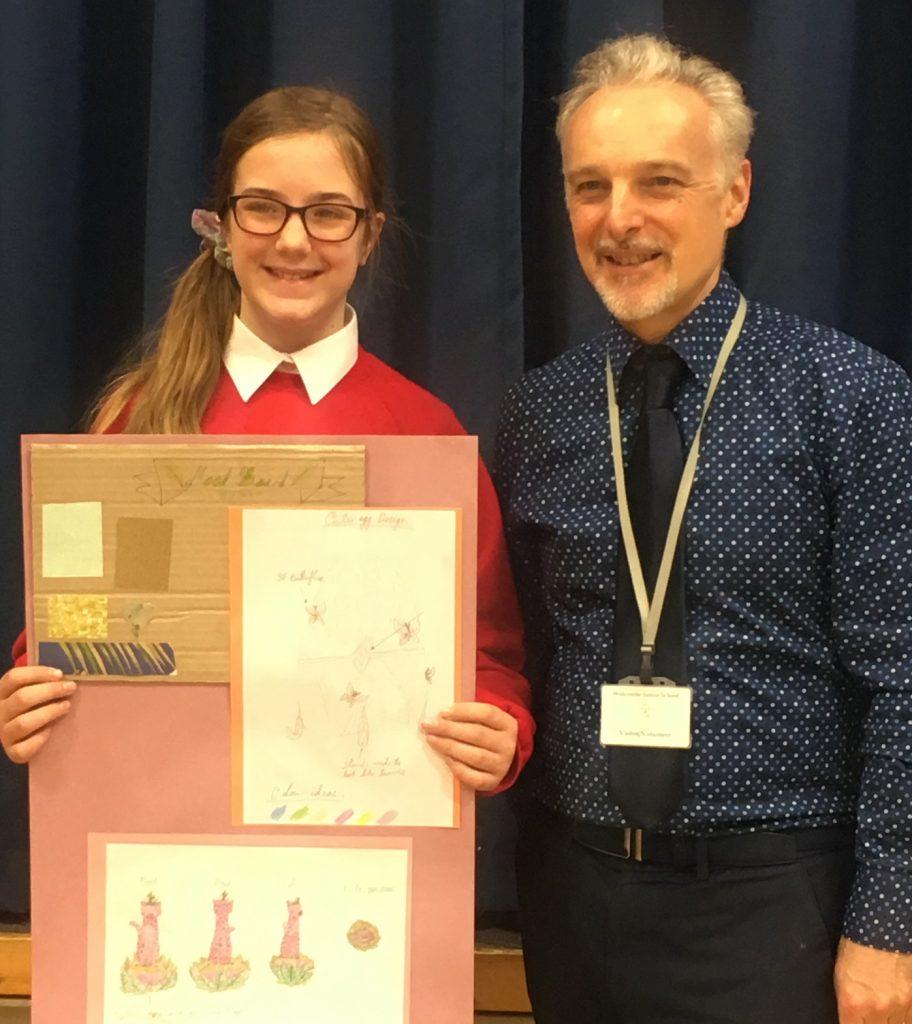 Art clube winner belle with Nicholas Wylde