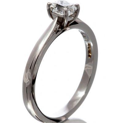 Diamond emerald cut solitaire ring