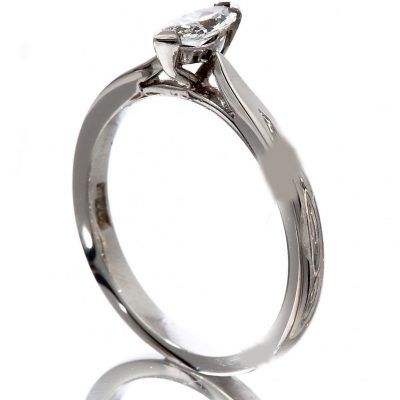 Diamond marquise cut solitaire ring