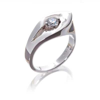 petal leaf diamond engagement ring unusual weird alternative wylde flower