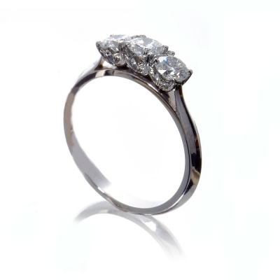 The Wylde Flower Diamond®  Petal 3 stone ring