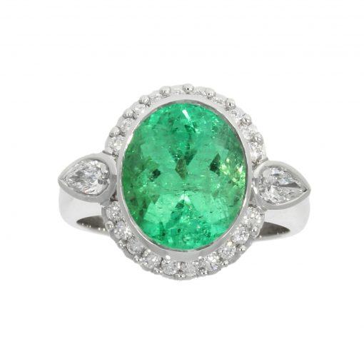 emerald diamond cocktail engagement ring large expensive amazing designer