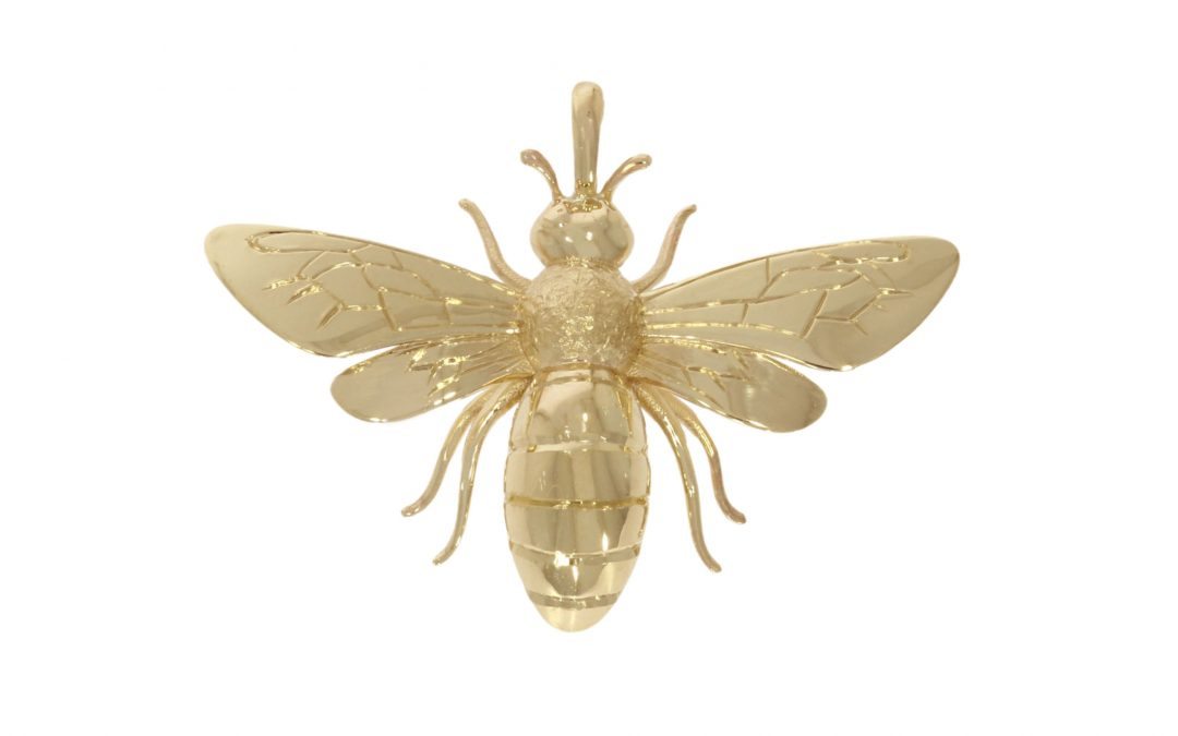 9ct Yellow Gold Honeybee Pendant