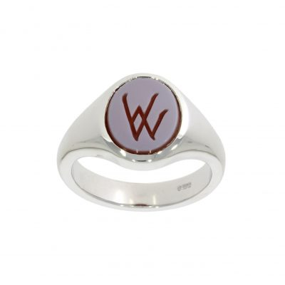 traditional english jewellery W signet ring family crest
