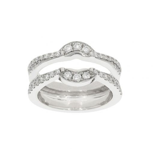 Diamond wedding and eternity bridal set joined together