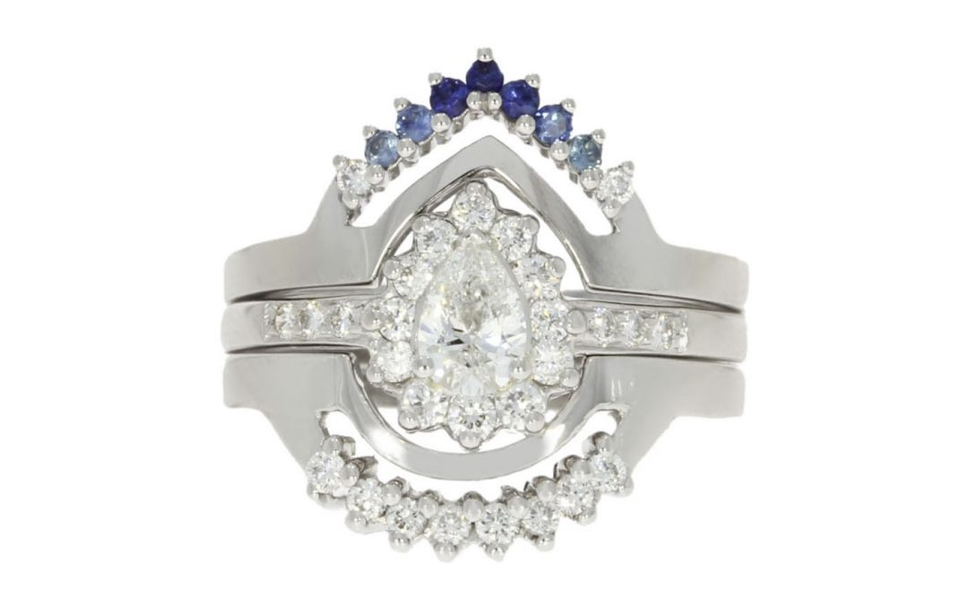 Blue Sapphire Ring for Bridal Set