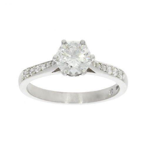 classic chic stylish simple glittery diamond bespoke ring uk