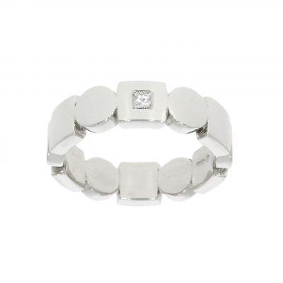 modern contemporary square circle diamond wedding engagement ring unusual unique wylde bath bristol