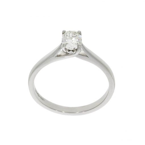 Simple oval cut flower set diamond ring