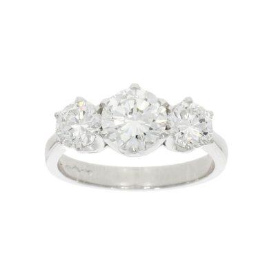 3 stone diamond engagement ring big 2ct 3ct 4ct 5ct 6ct