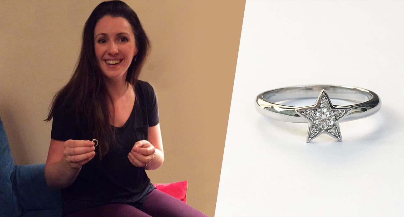 surprise diamond christmas present star ring for daughter priscila bishop
