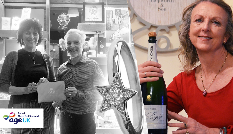age uk donated winner star ring goldsmith charity local bath uk