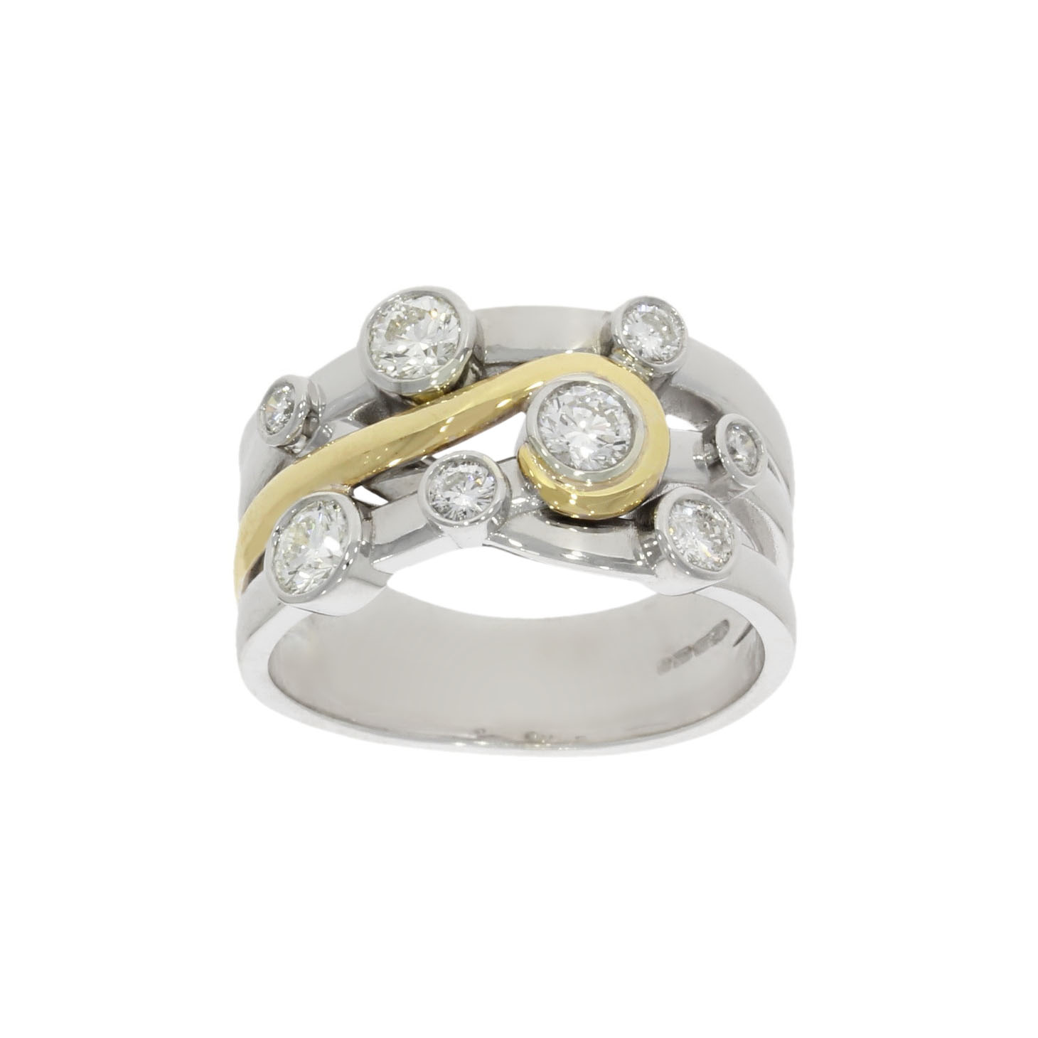 A Wylde jewellers remodel of a 30 year old bridal set in yellow and white gold