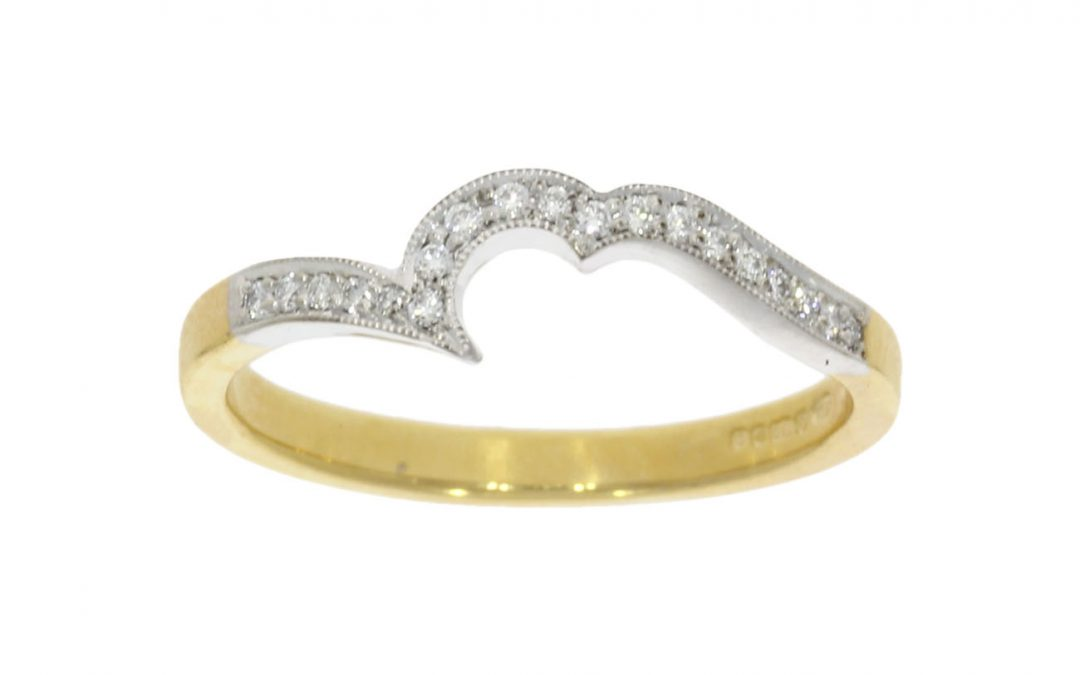 Mixed Gold Shaped Diamond Wedding Ring