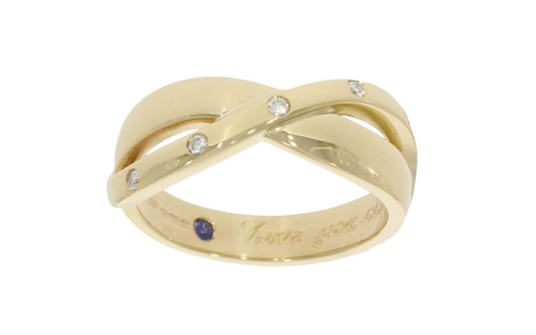 Mixed Yellow Gold Diamond Ring