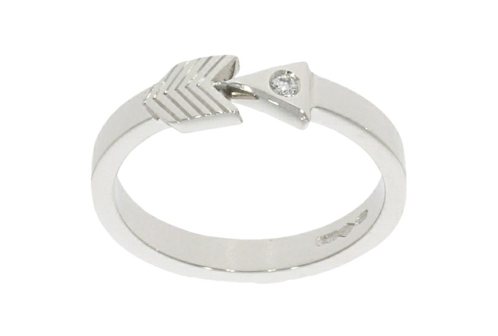 Platinum & Diamond Arrow Design Ring