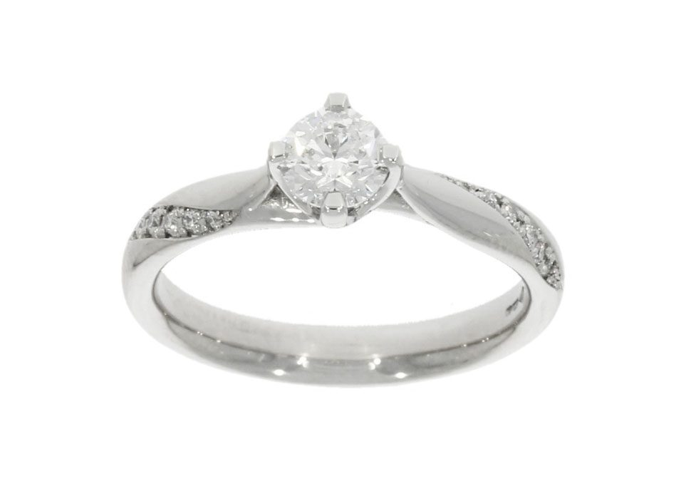 Platinum Diamond Twist Engagement Ring