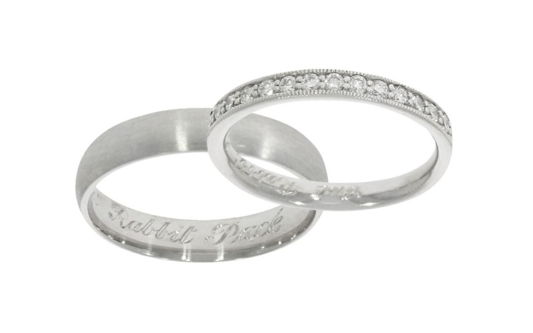 Platinum 'His & Hers' Timeless Wedding Bands