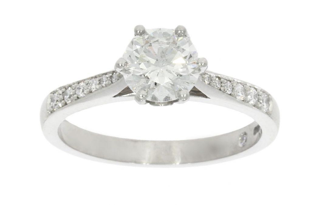 Platinum Multi-Diamond Solitaire Ring