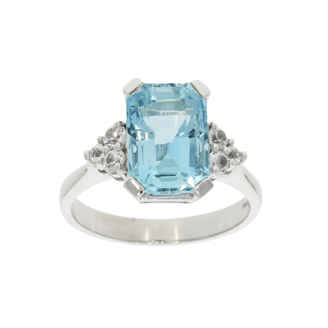 aqua aquamarine white topaz diamond cocktail engagement ring wylde bath bristol uk