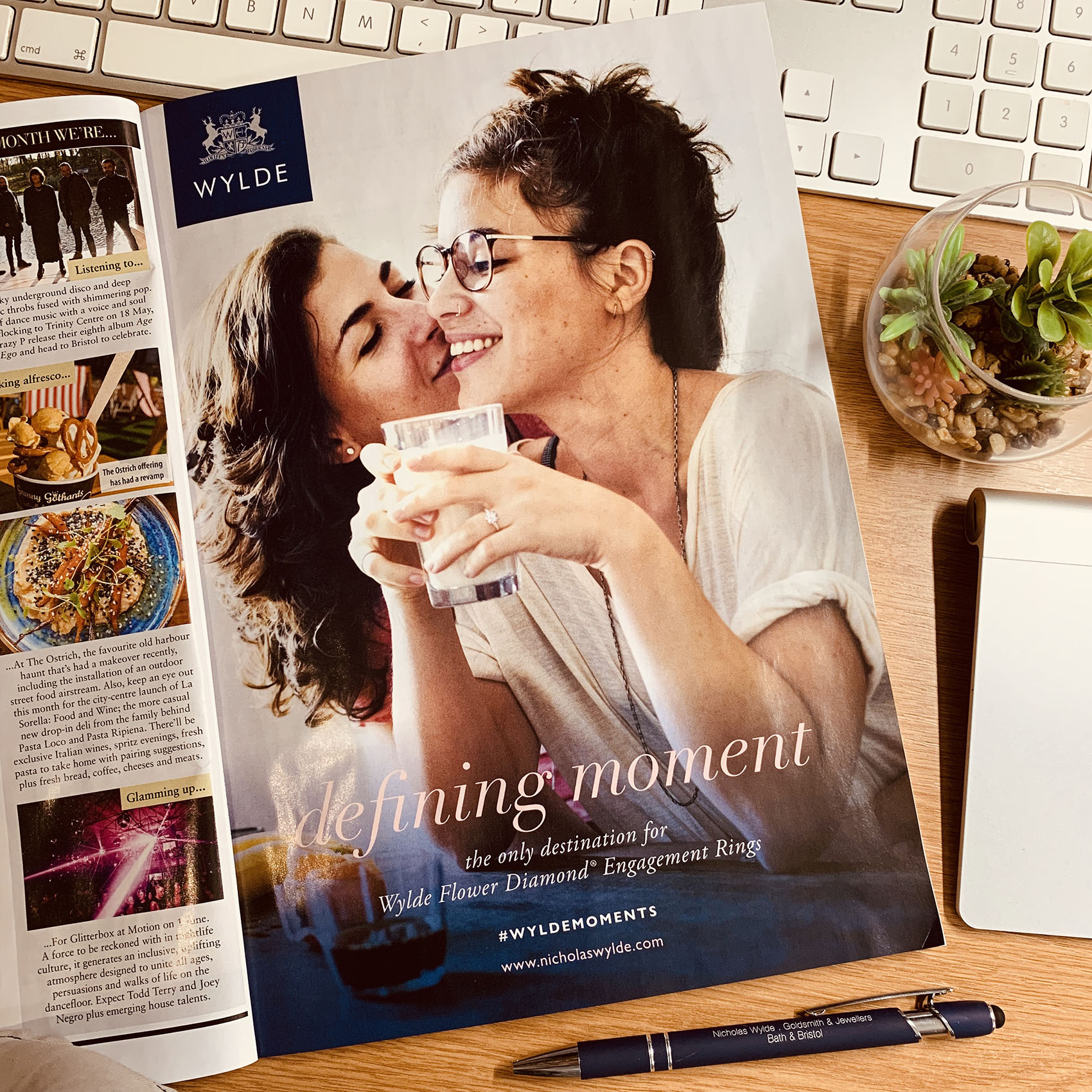 Nicholas Wylde Jeweller's First LGBTQ+ advert in a major mainstream campaign