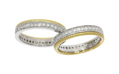 Yellow & White Gold Diamond 'Split' Ring(s)