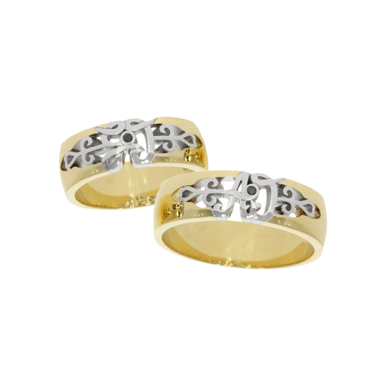 ornate initials personalised custom bespoke matching wedding rings bath bristol uk
