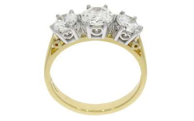 Yellow & White Gold Vintage Style Ring