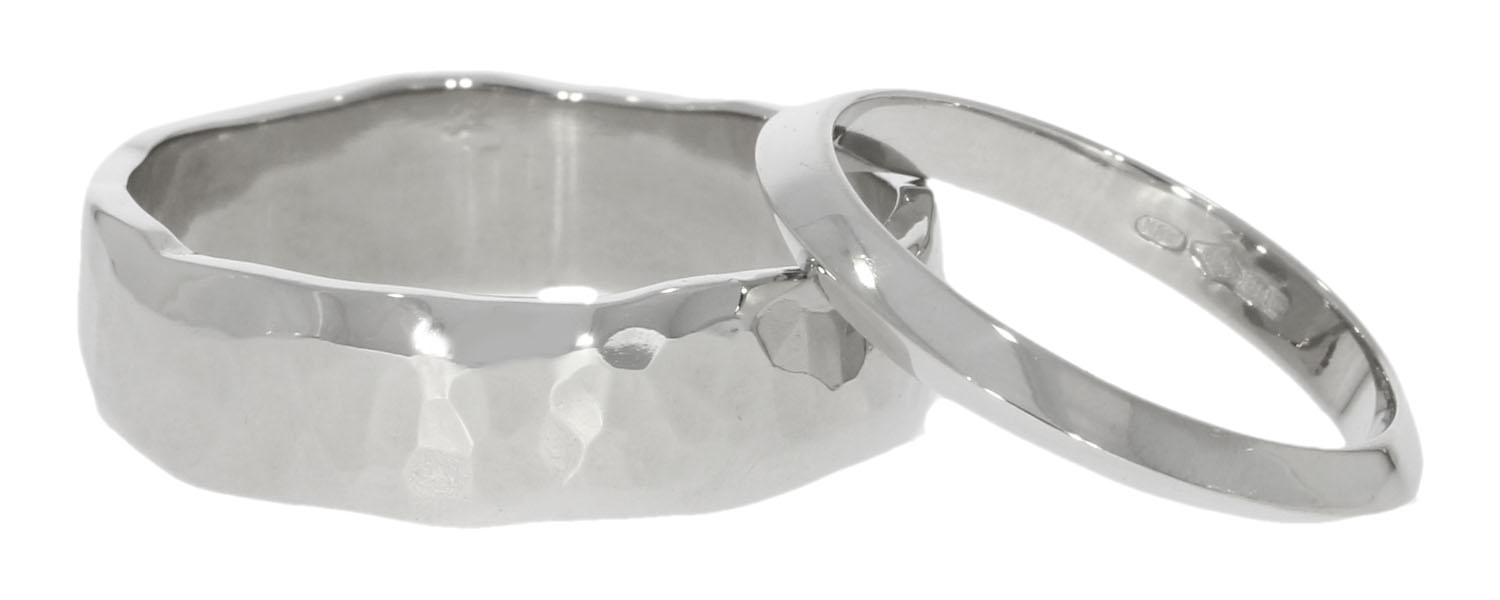 his hers matching different organic unusual cool modern wedding rings uk