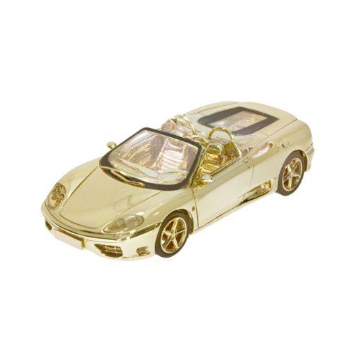 9ct solid yellow gold ferrari car diamond set headlights taillights nicholas wylde bath bristol