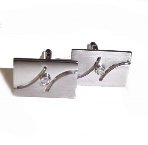 Cufflinks ( Rectangular with Diamond )
