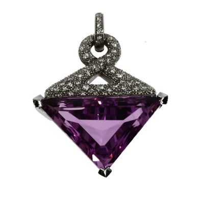 Pendant ( Diamond and Triangular Gemstone)
