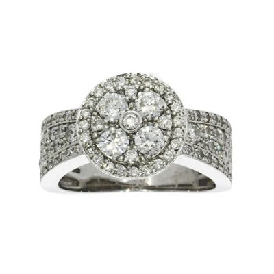 cluster diamond multi stone cluster cocktail dress ring engagement big