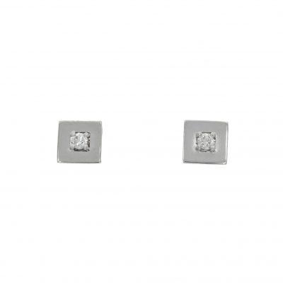 flat diamond square stylish fashionable studs earrings bath bristol uk