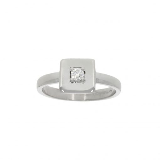 contemporary modern stylish fashionable alternative engagement ring square cubed