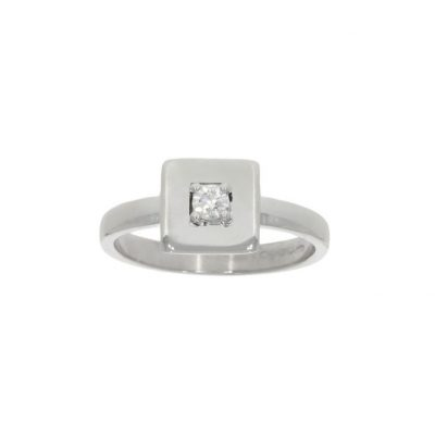 white gold square modern contemporary diamond unusual engagement ring