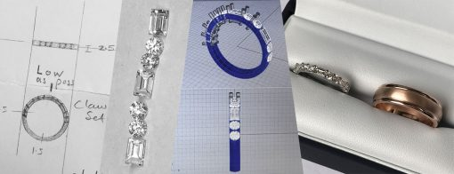 From design to CAD to boxed unmatching wedding rings