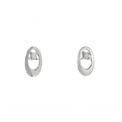 white gold simple sophisticated stylish studs earrings nicholas wylde