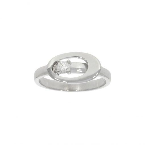 unusual asymmetric white gold diamond engagement ring modern stylish alternative