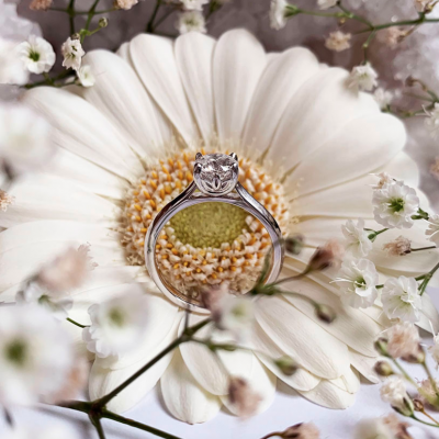 Wylde Flower Diamond 1ct flower setting engagement ring