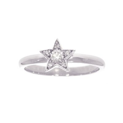 sterling silver diamond star ring cheap engagement ring goth alternative unusual wylde