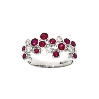 ruby diamond cluster unusual wedding ring nicholas wylde stylish valentines gift present ideas