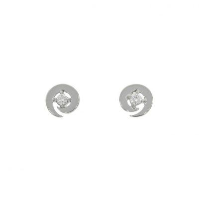 swirl spiral diamond stud earrings uk wylde side precious