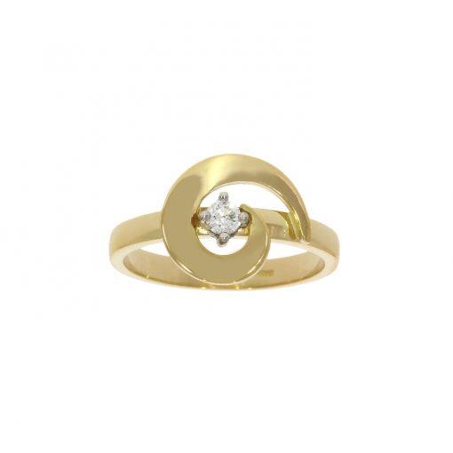 18ct yellow gold fashionable stylish swirl diamond cheap engagement ring